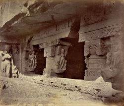 Ellora. The cave of Ramishwar (or Lord of Rama)